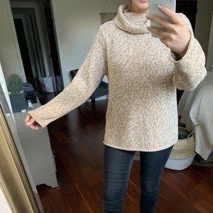 Calvin Klein Jeans Tan Knit Cowl Neck Sweater